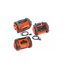 MINI COMPRESSORE PORTATILE BATTERIA LITIO 20V 40V + 220V 360 ​​l/m USB AUTO SALVAGENTI BICI MOTO DUAL POWER