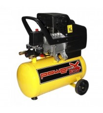 COMPRESSORE 24 25 LT OLIO ITALY 8 BAR 2 HP 2 ITALY MANOMETRI 2 CONNETTORI 170L/M