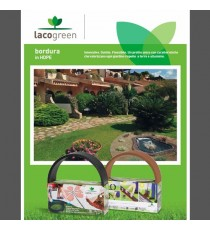 Kit Bordura TERRA COTTA MT 5 mm 4 Decorazione Giardino Duttile Flessib Lacogreen