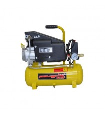 COMPRESSORE 6 LT OLIO ITALY 8 BAR 1 HP 118 L/M W 750 MANOMETRO CONNETTORE